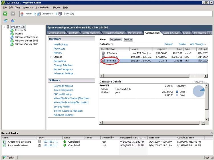 RAIDiator 4 2: Using ReadyNAS as a VMware ESX Datastore