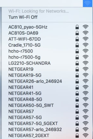 Adding a device to your wireless network: Apple Mac OSX